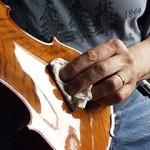 Polishing a Violin